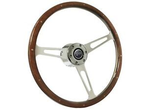 1968 1973 Mercury Cougar S6 Classic Walnut Wood Steering Wheel Kit