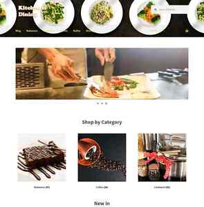 Amazon Affiliate Kitchen Dining Website Business 1 Year Free Hosting Domain