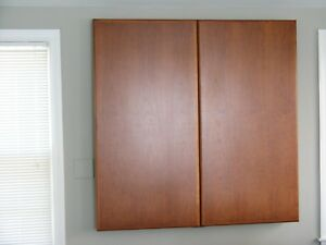 Dry Erase Whiteboard Cabinet Mahogany Wood 4 X 4 Used Excellent