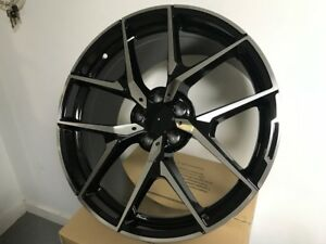 19 Staggered Mercedes Benz Amg Y Spoke Style Black Rims Wheels Fits S Class