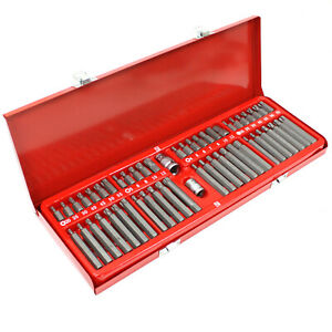 54 Pc 3 8 1 2 Dr Impact Bit Socket Set Star Torx Hex Allen Spline Tamper Proof