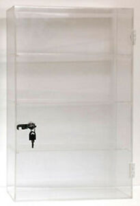 Small Acrylic Showcase Countertop Display Case 13 w X 21 h New