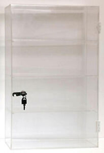 Acrylic Countertop Display Showcase Rack 3 Shelves Store Fixture 13 w X 21 h New