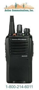 New Vertex standard Evx 531 Uhf 403 470 Mhz 5 Watt 32 Channel Two Way Radio