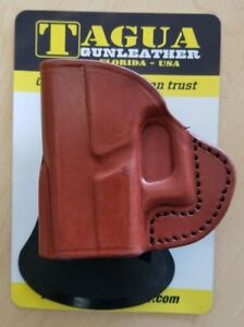 Tagua Rotating Quick Draw Leather Paddle Holster LEFT HAND Select your size