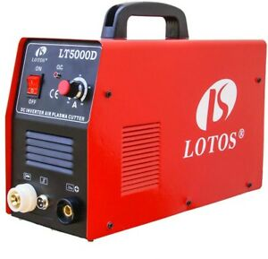 Lotos 50 Amp Compact Inverter Plasma Cutter For Metal 110 220v 1 2 Clean Cut