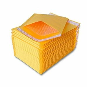 250 Pcs 0 Kraft Bubble Padded Self sealing Envelopes Mailers 6x10 inner 6x9