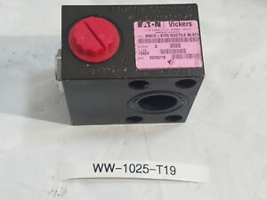 New Eaton Vickers Hydraulic Valve Manifold Mscd 8750 Ductile Black