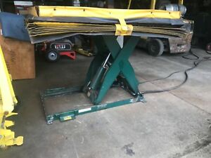 Southworth Air Motor Hydraulic Lift Table 2000 Ls2 36