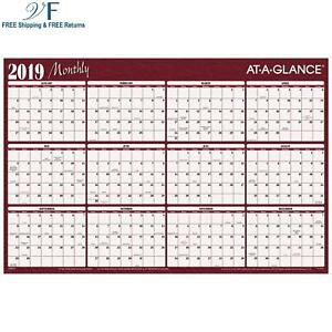 At a glance Yearly Wall Planner January 2019 December 2019 36 X 24 Horizo