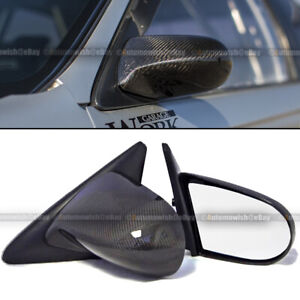 For Honda 88 91 Crx Pair Carbon Fiber Manual Adjustable Spoon Style Side Mirror