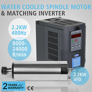 2200w Vfd Water Cooled Spindle Motor Milling Cnc Variable Excellent