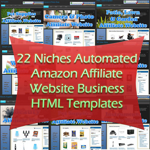 22 Niches Automated Amazon Affiliate Website Business Html Templates
