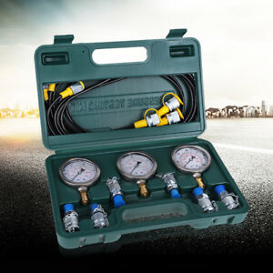 New Hydraulic Pressure Test Kit With Testing Hose Coupling And Gauge