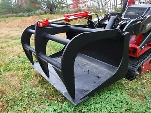 Toro Dingo Mini Skid Steer Attachment 42 Single Cylinder Smooth Bucket Grapple