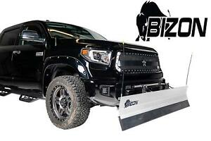 Bizon Aluminum Snow Plow fits 2015 2018 Chevy Colorado Gmc Canyon 4wd Only