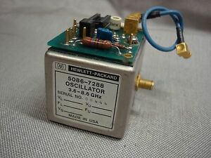 Agilent Hp 5086 7288 Yig Oscillator 3 6 8 6 Ghz With Smb f Jumper