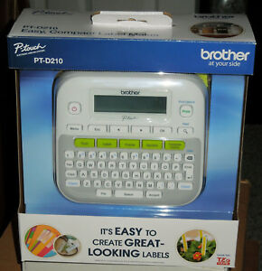 Brother P touch Pt d210 Label Maker Labeler Brand New In Box Ships Free In Us