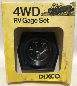 Vtg Dixco 217 4wd Rv Gauge Set Electric Oil Temperature Gauge Off Road Jeep Nos