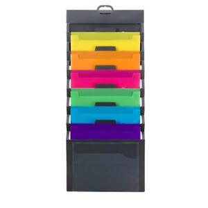 Cascading Wall Organizer Vertical Hanging File Storage Pocketrack Folder Holder