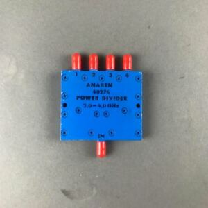 Tested All Outputs Checked Anaren 40276 4 Way 2 0 To 4 0 Ghz Power Divider