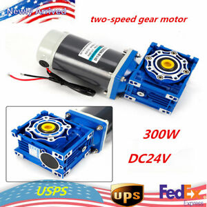 300w Dc24v Worm Gear Reducer Gearbox Motor Low Speed high Torque Self locking