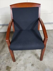 2 Chairs Solid Wood Office Guest Chairs Cherry Mahogany Matching Set