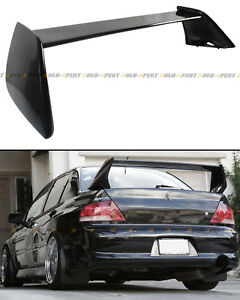 For 2002 2007 Mitsubishi Lancer Evo 7 8 9 Painted Black Rear Trunk Spoiler Wing
