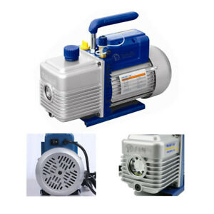 Dual 2 Stage 4cfm 1 2hp Rotary Vane Deep Vacuum Pump Hvac Ac Air Conditioning