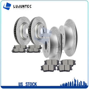 Front Rear Brake Discs Rotors Ceramic Pads For 2008 2009 2012 Toyota Avalon