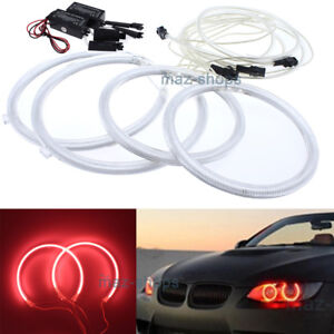 4pcs Red Angel Eyes Halo Ring Light Ccfl For Bmw E90 E91 Non Projector 3 Series