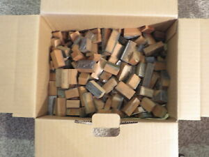 Vintage Letterpress Blocks Assorted Company Names Lot Of 200 Metal wood