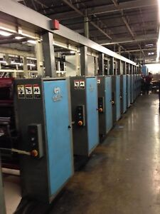 12 Unit Heidelberg Harris Goss V30 Web Printing Press W Folder Stacker Sheeter
