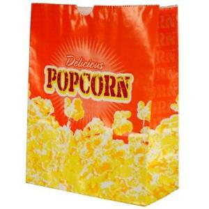 Popcorn 5 ounce Butter Bags Large 100 Per Case