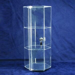 Counter Top Rotating Acrylic Locking Display Showcase