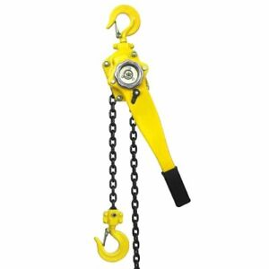 3 4 Ton Ratcheting Lever Block Chain Hoist 10ft Lift Come Along Puller 1500lbs