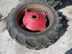 1963 Farmall Cub Farm Tractor Rear Tires Wheels 8 3 X 24 no Fluid In Them