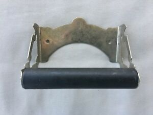 Antique Star Nickel Brass Toilet Paper Tissue Holder Vtg Bathroom Old 114 18j