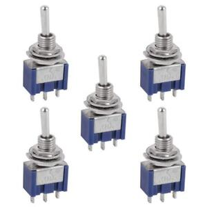 5 Pcs Ac On off on Spdt 3 Position Micro Mini Toggle Switch 6 Amp Ac125v