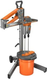Ridgid Dual Paddle Power Mixer Programmable Stand Smart Mud Mixing Power Tool