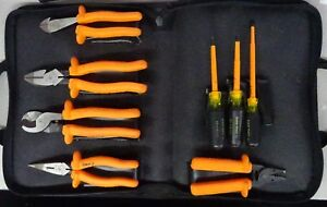 Klein Tools Insulated Tool Kit Pliers Screwdriver Side Cutter Lineman