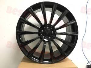 18 Staggered Black S Amg Style Rims Wheels Fits Mercedes Benz Cl550 Cl600 Cl550