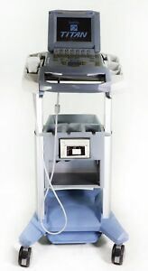 Sonosite Titan Ultrasound With L38 10 5 Mhz Transducer And Rolling Cart