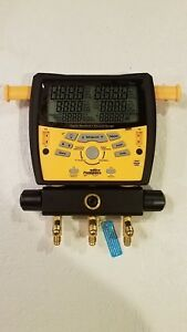 Fieldpiece Sman3 Port Digital Manifold Gauge With 1 Pipe Clamp K type Nos