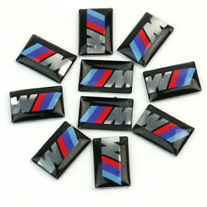 10 Pcs M Logo Badge For Side Car Bmw M3 M5 M4 Performance Emblem Sticker