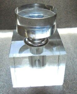 Fine Old Art Deco Clear Glass Perfume Bottle