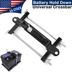 Adjustable Universal Crossbar Battery Hold Down Bracket Holder Car Suv Tie Rack