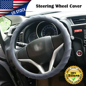 14 15 16 Car Auto Steering Wheel Cover Protector Silicone Skidproof Gray