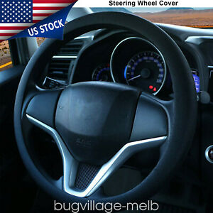 Steering Wheel Cover 14 15 Silicon Protector Universal Black Leather Texture