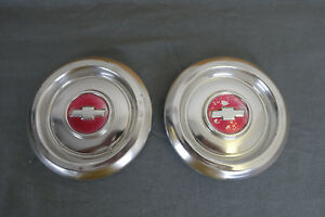 Vintage Chevy Dog Dish Poverty Hubcap Wheel Covers